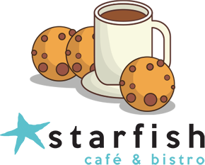 Starfish Café Logo - Coffee and Cookies